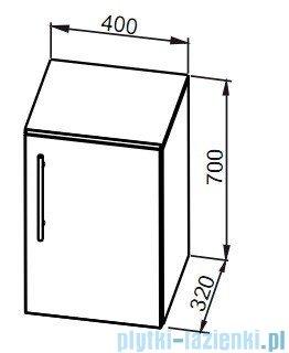 Aquaform Amsterdam szafka niska biała 0410-202111