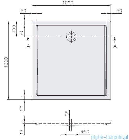 Villeroy&Boch Futurion Flat Brodzik Kwadratowy 100x100   UDQ1000FFL1V-01