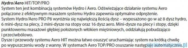 Riho Geta Wanna asymetryczna 160x90 lewa z hydromasażem PRO Hydro 6+4+2/Aero11 BA87P7