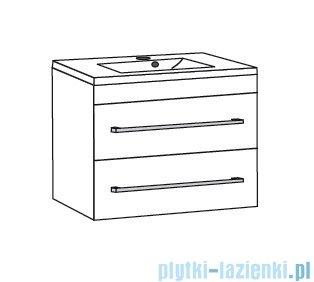 Antado Variete ceramic szafka podumywalkowa 2 szuflady 62x43x50 czarny połysk FM-AT-442/65/2GT-9017