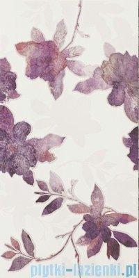 Paradyż Luciola mocca fiori inserto ścienne 20x60