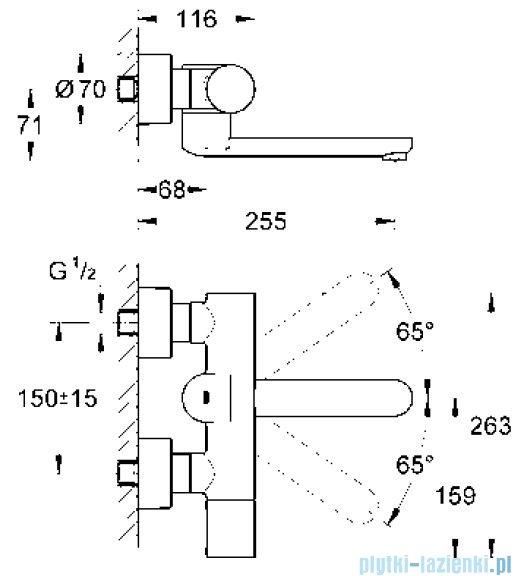 Grohe Eurosmart Cosmopolitan E elektronika na podczerwień do umywalki z termostatem 1/2  36333000