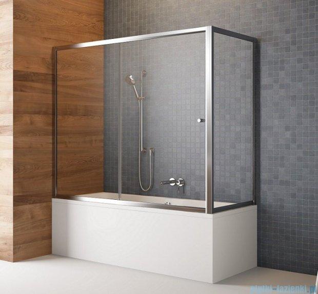 Radaway Vesta Dwj+s parawan nawannowy 160x80cm szkło przejrzyste 209116-01-01/204080-01