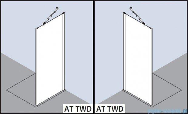Kermi Atea Ściana boczna, szkło przezroczyste z KermiClean, profile srebrne 90x185cm ATTWD09018VPK