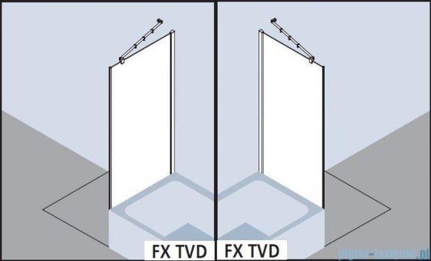Kermi Filia Xp Ściana boczna skrócona obok wanny, szkło przezroczyste, profile srebrne 75x175cm FXTVD07517VAK