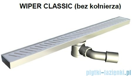 Wiper Odpływ liniowy Classic Pure 120cm bez kołnierza szlif PU1200SCS100