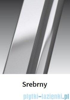 Novellini Drzwi do wnęki z elementem stałym GIADA G+F 174 cm lewe szkło przejrzyste profil srebrny GIADNGF174S-1B