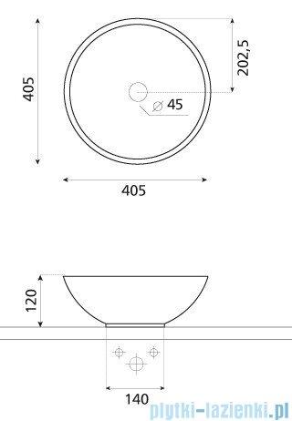 Bathco umywalka kamienna nablatowa Catania negro 40,5x12 cm 00302