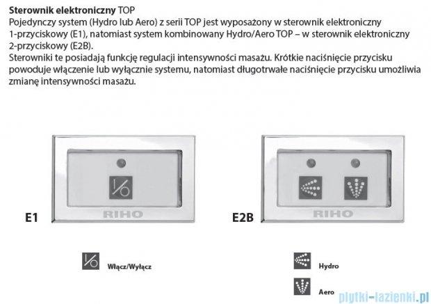 Riho Doppio wanna asymetryczna 180x130 prawa z hydromasażem TOP Hydro 6+6/Aero12 BA90T5