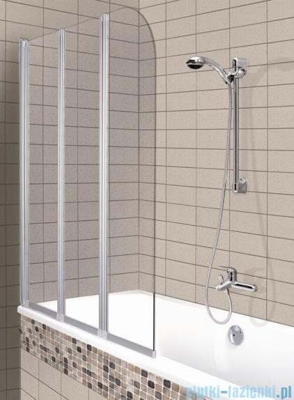 Aquaform Modern 3 parawan nawannowy 120,5x140cm szkło przejrzyste profil biały 06953