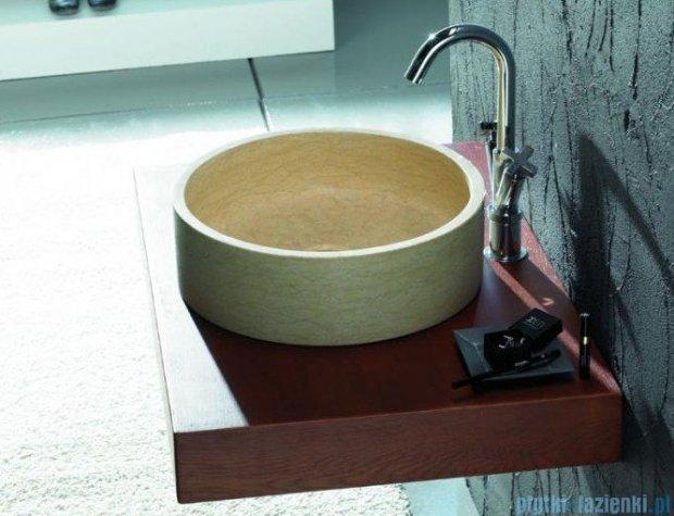 Bathco umywalka kamienna nablatowa Bali Beige 42x13 cm 00303