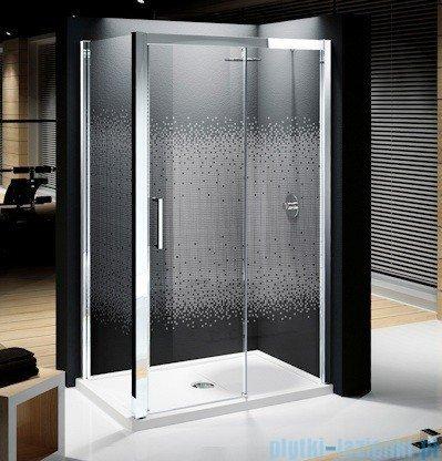 Novellini Elysium Kuadra 2P Drzwi przesuwne 114cm Prawe szkło przejrzyste profil chrom KUAD2P114D-1K