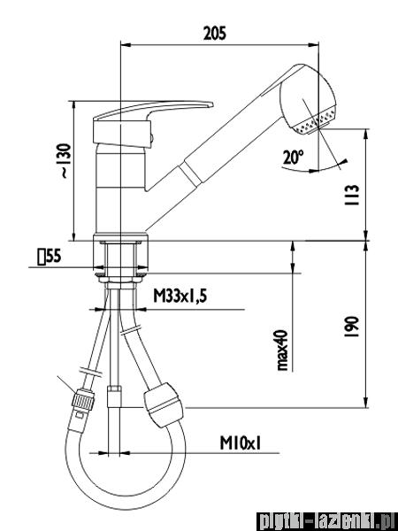 KFA RUBIN bateria kuchenna CHROM 563-110-00