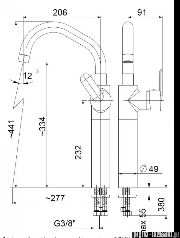 KFA CYRKON bateria umywalkowa nablatowa, kolor chrom 582-712-00