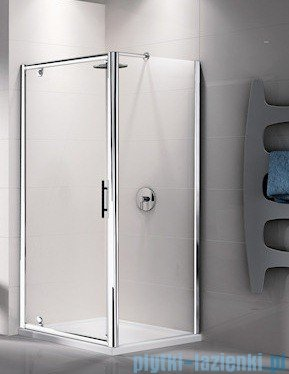 Novellini Ścianka stała LUNES F 78 cm szkło przejrzyste profil biały LUNESF78-1D