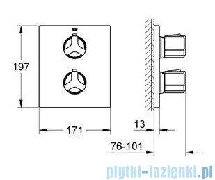 Grohe Allure bateria termostatyczna do obsługi wiecej niż jednego wyjścia wody chrom 19446000