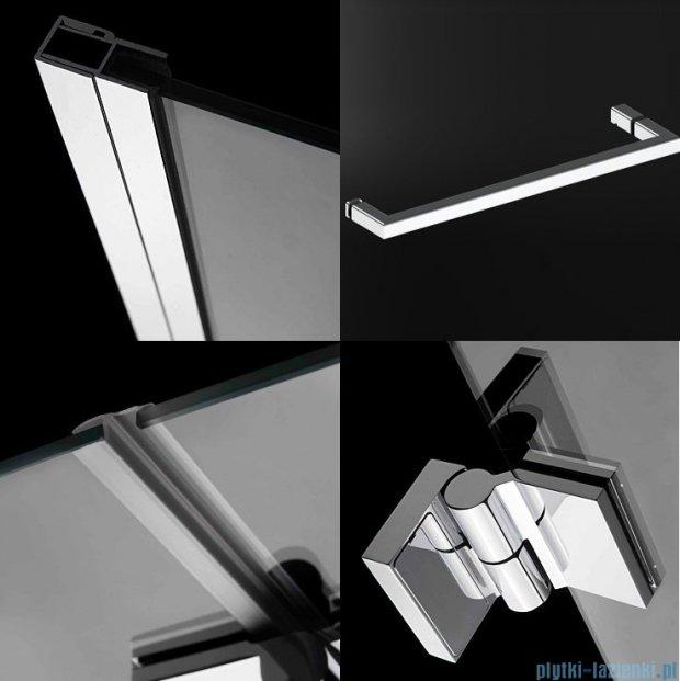 Radaway Carena DWJ Drzwi prysznicowe 90 lewe szkło przejrzyste + brodzik Delos C 34302-01-01NL