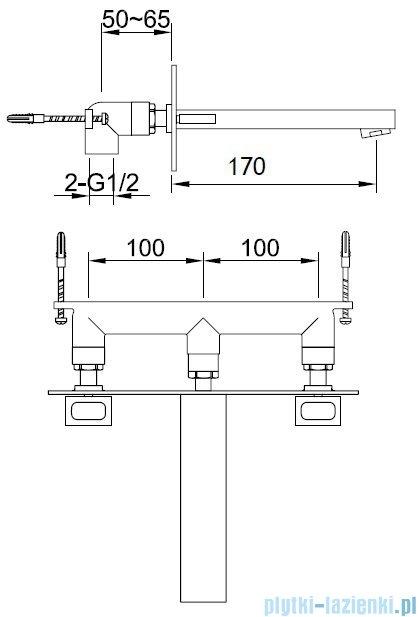 Kohlman Nexen Podtynkowa bateria umywalkowa QW195U