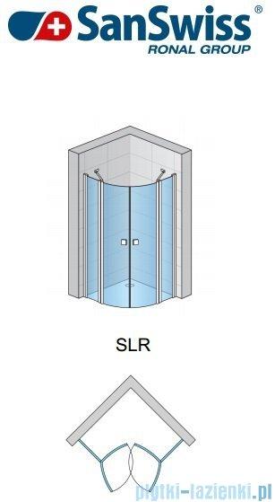 SanSwiss Swing Line SLR Kabina półokrągła 80cm profil srebrny SLR5008000107