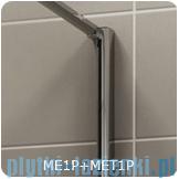 SanSwiss Melia MET1 ścianka prawa wymiary specjalne 90-140/do 200cm krople MET1PDSM21044
