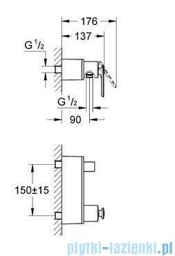 Grohe Veris jednouchwytowa bateria prysznicowa chrom 32197000