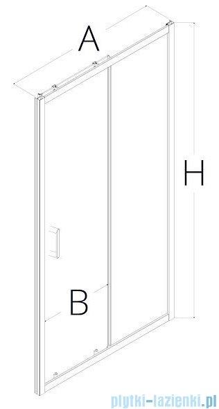 New Trendy Adora 120x190 cm drzwi wnękowe przesuwne przejrzyste D-0083A