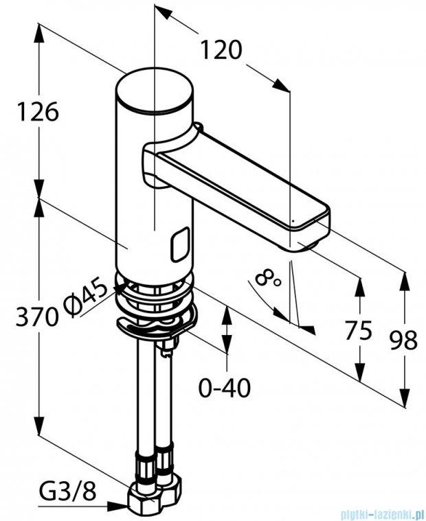 Kludi Zenta Elektroniczna bateria umywalkowa DN 15 chrom 3820005