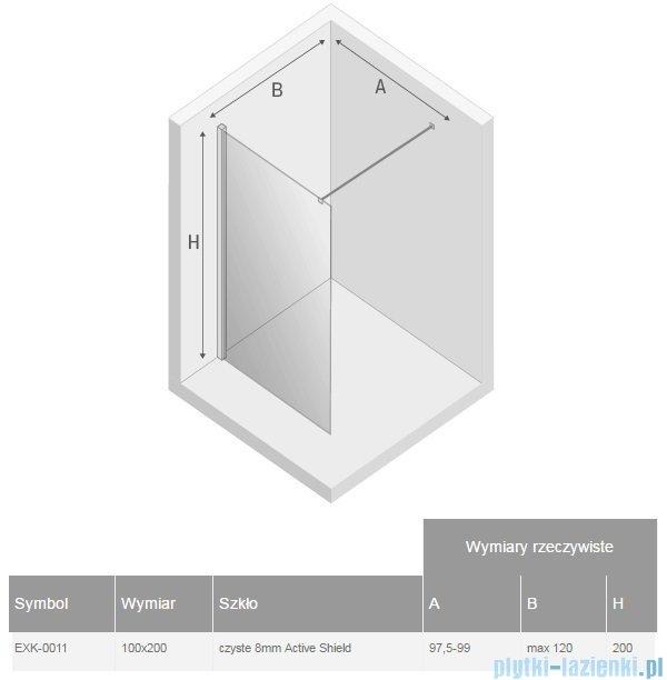 New Trendy New Modus kabina Walk-In 100x200 cm przejrzyste EXK-0011