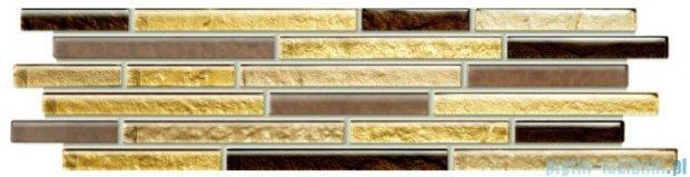Tubądzin Venatello brown mosaic listwa ścienna 37,2x9,8