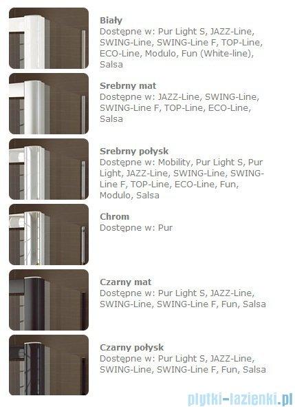 SanSwiss Pur Light S PLSR SM Kabina półokrągła z drzwiami rozsuwanymi 90-120cm PLSR50SM10407