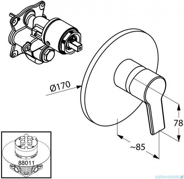 Kludi O-Cean Podtynkowa bateria natryskowa chrom 387550575