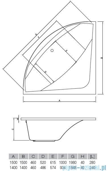 Vayer Bumerang 140x140cm Wanna symetryczna