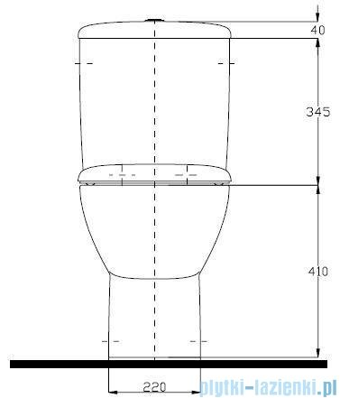 Koło Style Zestaw Wc kompakt miska kompaktowa spłuczka L29000000