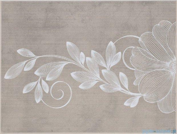 Kwadro Stacatto beige inserto kwiat 25x33,3