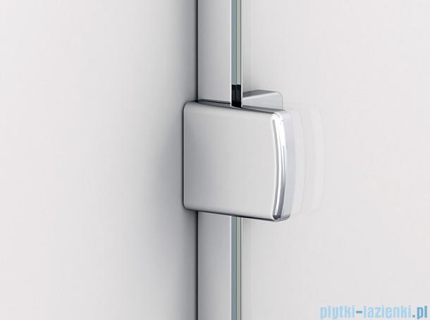 Sanswiss Melia ME13 Drzwi ze ścianką w linii z uchwytami i profilem lewe do 120cm pas satynowy ME13AGSM11051