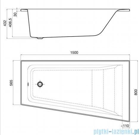 Roca Easy wanna asymetryczna 150x80 cm prawa A248406000