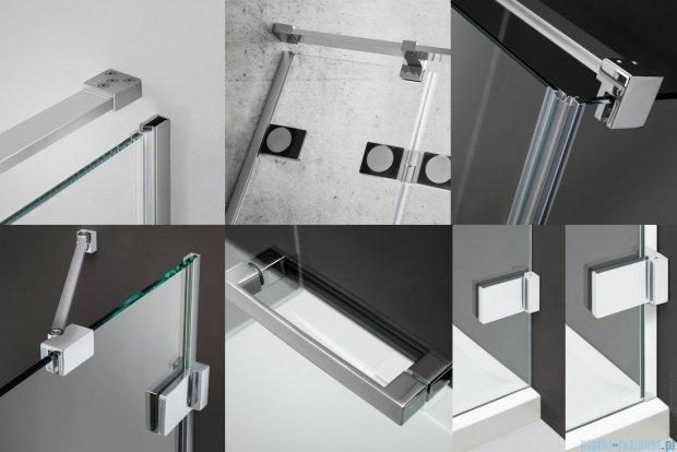 Radaway Euphoria DWJ Drzwi wnękowe 120 lewe szkło przejrzyste + brodzik Argos D + syfon 383016-01L/4AD812-01