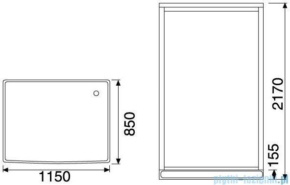 Duschy Kabina hydromasażowa trójścienna 115x85cm model 6030