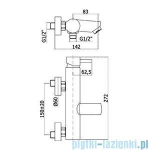Paffoni Bateria wannowa Stick chrom mat SK022MC