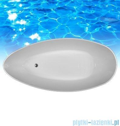 Omnires wanna 156x71cm wolnostojąca biało-czarna mat Marble+Barcelona156CM
