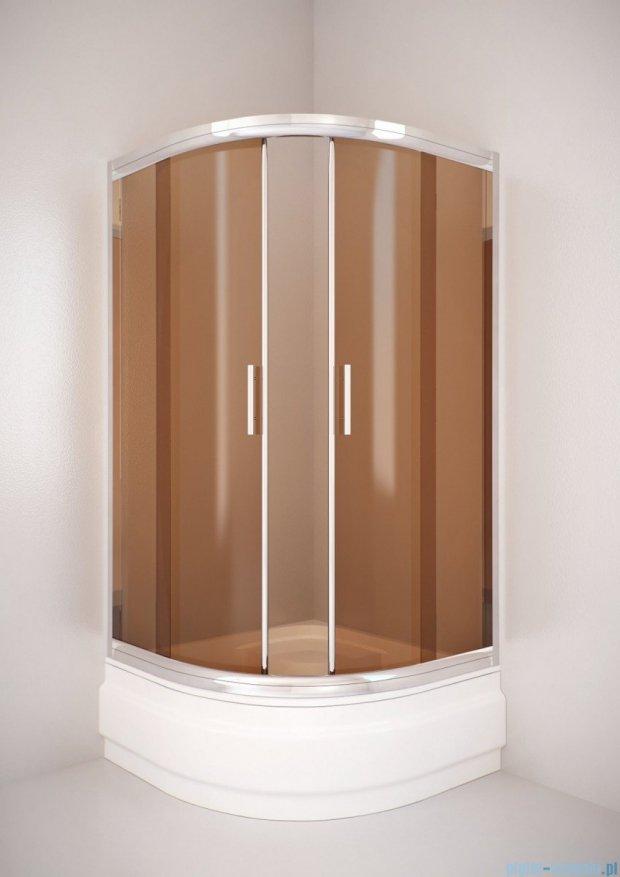 Sea Horse Sigma kabina natryskowa narożna półokrągła - niska, 90x90, szkło: brązowe,   BK002/3/KB
