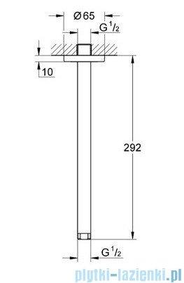 Grohe Ondus Rainshower przepust stropowy 292mm velvet black 28497KS0