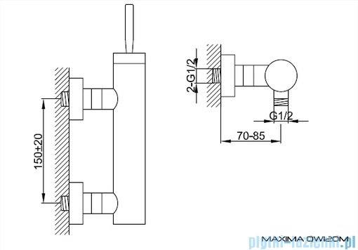 Kohlman Maxima Bateria natryskowa QW120M