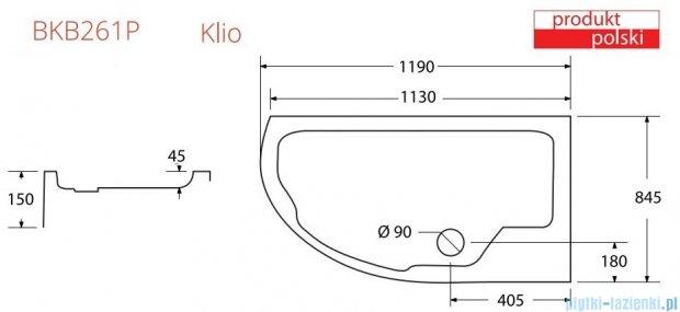 Sea Horse Sigma kabina  Klio prawa 120x85 szkło: brązowe BK261BP + Brodzik prysznicowy 120 x 85  BKB261P