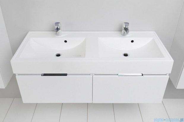 Antado Cantare szafka z umywalką 120x50x33 biały połysk 2xFSM-342/6GT-47/47 + UNAM-1204D