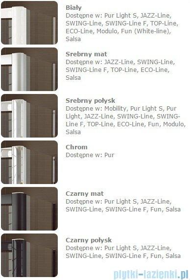 SanSwiss Melia MET1 ścianka prawa wymiary specjalne 90-140/do 200cm pas satynowy MET1WDSM21051