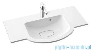 Marmorin Emma 800 umywalka nablatowa 80x45 z przelewem bez otworu na baterie biała 639080020210