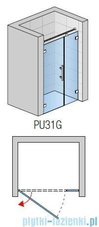 SanSwiss PUR PU31 Drzwi lewe wymiary specjalne do 200cm krople PU31GSM41044