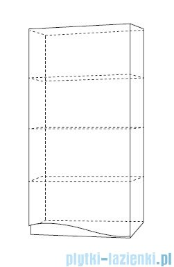 Antado Wave szafka wisząca prawa 40x20x80cm biały połysk VA-119R-WS
