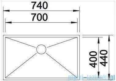 Blanco Zerox 700-U komora podwieszana  stal szlachetna polerowana  bez k. aut. 517249
